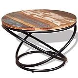 vidaXL Table Basse de Salon Bois de Récupération Massif 60 x 60 x 40 cm