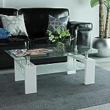 Festnight Table Basse avec étagère inférieure 110x60x40cm