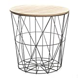 Paris Prix - Table D'appoint Design Kumi 41cm Noir