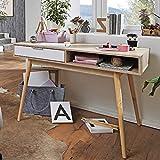 FineBuy Table de Bureau 120 x 79 x 55 cm Chêne Sonoma/Blanc Table de Bureau pour Ordinateur | Table PC avec tiroir | Bureau d'ordinateur Table d'ordinateur | Table d'ordinateur Portable