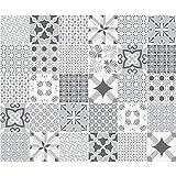 Carreaux de ciment adhésif mural - azulejos - 15 x 15 cm - 30 pièces