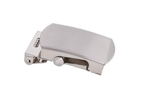 shenky - Boucle de ceinture de qualité - pour ceinture en tissu/militaire - 4 cm - Gris...