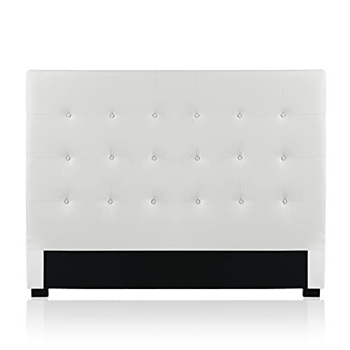 Intense Déco - Tête de lit capitonnée Premium 160cm Blanc