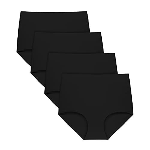 FallSweet Slip Taille Haute sans déformation, sous-vêtements pour Femmes, Culottes sans Couture, Paquet de 5,Noir,S prix et achat