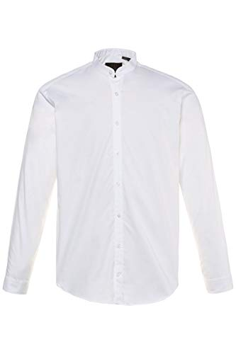 JP 1880 Homme Grandes Tailles L-8XL Chemise Droite col Mao, Manches Longues Blanc 3XL 718156 20-3XL