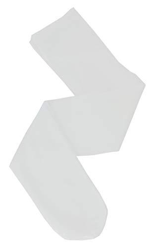 Boutique-Magique Collants bébé blanc semi opaque lycra,Blanc,0-3 mois