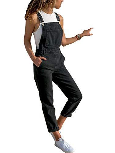 Tomwell Combinaison Femme Salopette en Jeans Slim Jumpsuit Pantalon Casual Grand Taille...