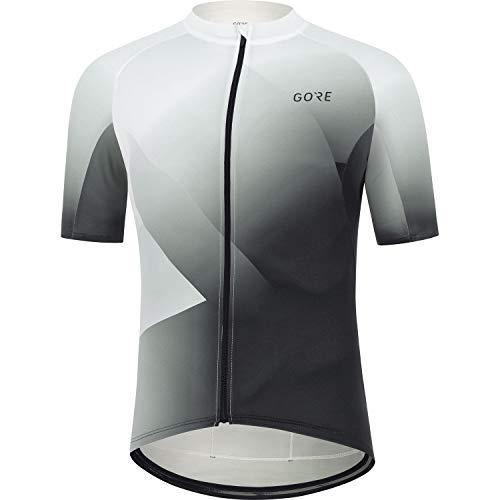GORE WEAR Maillot de Cycliste pour Hommes Fade, M, Blanc/Noir