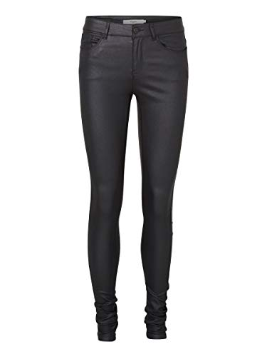 Vero Moda Vmseven Nw SS Smooth Coated Pants Noos Pantalon, Noir (Black Detail:Coated), 40 /L30 (Taille Fabricant: Large) Femme prix et achat