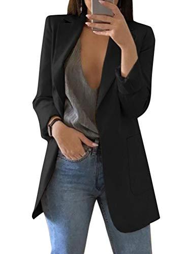 Minetom Femme Blazer Élégant Manches Longues Slim Fit OL Bureau Affaires Veste De Costume...