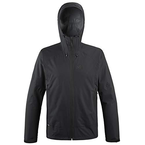 Millet - Fitz Roy III JKT M - Veste Hardshell Homme - Membrane Dryedge Imperméable et Respirante - Approche, Randonnée, Trekking, Lifestyle - Noir XL