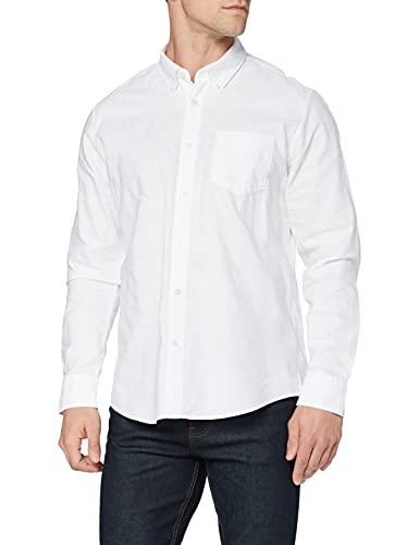 Marque Amazon - find. Regular Oxford Camicia, Blanc (White), 3XL, Label: 3XL