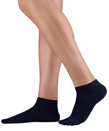 KNITIDO Dr. Foot® Silver Protect Chaussettes à orteils basses anti odeur en coton avec fil d'argent antimicrobien, pointure:35-38, Couleur:navy (006) prix et achat
