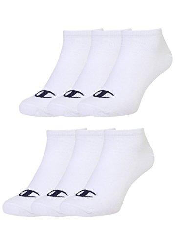 Champion 6pk Sneaker Socken Chaussettes, Weiß, 35-38 Mixte