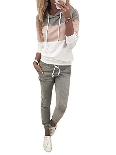 ORANDESIGNE Femmes 2 Pièce Survêtement Combinaison Sweats à Capuche Sweatshirts + Pantalon...