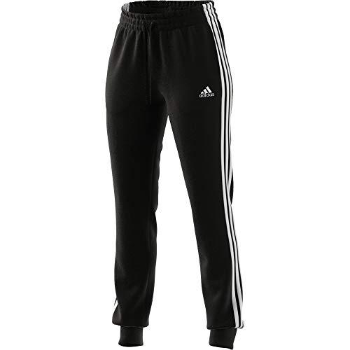 adidas Essentials Slim Tapered Cuffed - Les Pantalons De Survêtement - Femme, Noir Blanc, S