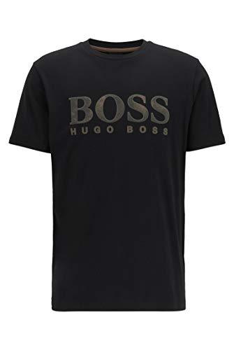 BOSS Hommes TLogo 21 T-Shirt en Coton avec Logo imprimé Selon différentes Techniques
