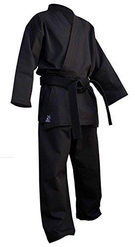 DOUBLE Y Kimono Karate Deluxe Noir 160 cm