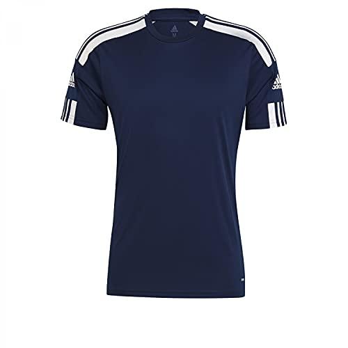 adidas Squadra 21 T-Shirt Homme, Équipe Bleu Marine/Blanc, L