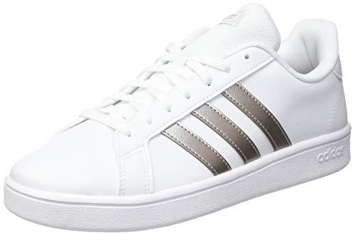 adidas Grand Court Base, Baskets Femme, Ftwbla/Metpla/Ftwbla, 40 EU