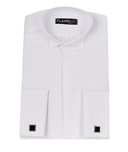 Chemise blanche avec boutons de manchette et col aile pour garçon - Blanc - 3-4 ans prix et achat