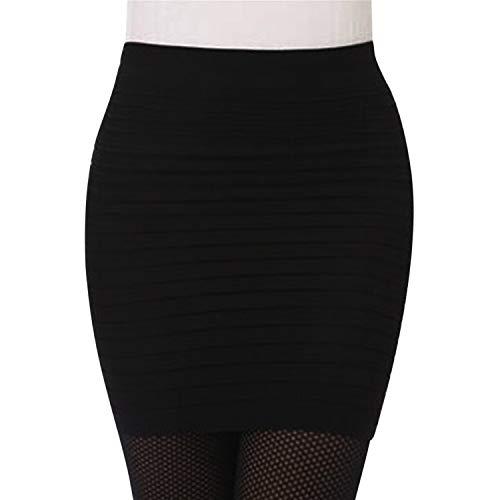 LAEMILIA Jupe Crayon Courte Femme Mini Skirt Moulant Élastique Plissée Taille Haute Pakage...