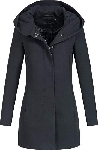 Vero Moda Vmverodona Ls Jacket Noos Manteau, Noir (Black Black), 44 (Taille Fabricant: X-Large) Femme