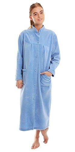 Robe de chambre en polaire pour femmes - Bleu - 52 prix et achat