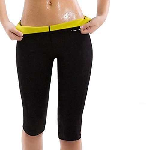 Pantalon de Yoga Legging de Sudation pour Femme Sauna Pantalon Corsaire Favorise la...