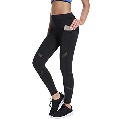 Joyshaper Femmes Pantalon De Yoga Élastique Leggings de Sport avec Téléphonepoches pour Yoga Fitness Courir du Matin - Noir - 3XL prix et achat