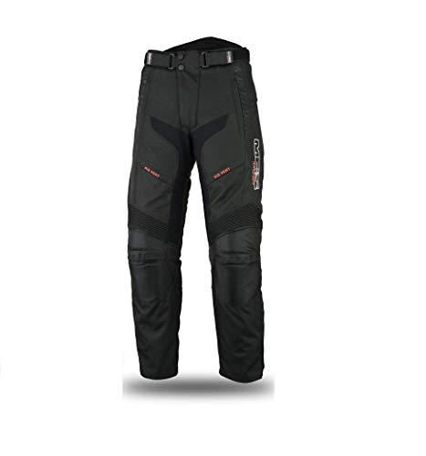 Mbsmoto-LP-24-Pantalon de moto en textile Cordura étanche et coupe-vent, pour femme, noir