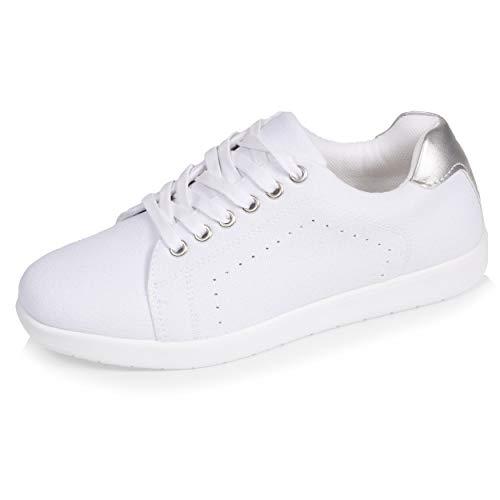 Isotoner Baskets Femme Confort,37 EU,Blanc-Blanc prix et achat