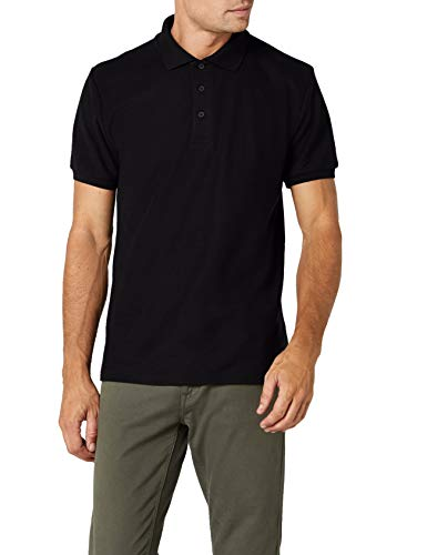 Fruit of the Loom SS033M - Polo - Homme, Noir (Black), Large