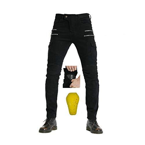 Pantalon de moto pour femme en tissu denim extensible résistant à l'usure, coupe-vent, respirant et résistant aux déchirures. Convient pour l'équitation, l'équitation, le ski