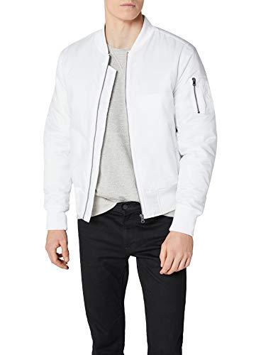 Urban Classics Basic Bomber Jacket Homme, Blanc (blanc 220)., L