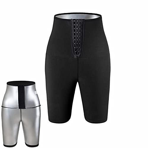 Pantalon de Sudation Femmes, Legging de Sport à Taille Haute Noir Shorts pour Accélérer Transpiration, Lifting des fesses, Obtenir Ventre Plat Anti Cellulite pour Minceur Fitness Jogging Yoga