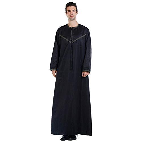 Janjunsi Hommes Musulman Islamique Caftan Jubba Thobe, Casual Manches Longues Vintage Arab...