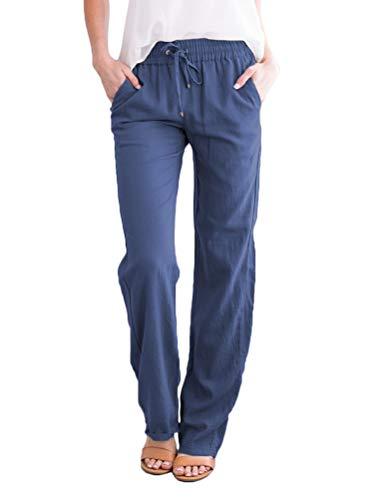 Minetom Women Femme Pantalon Fluide Bouffante Elastique Sportwear Yoga Aladin Harem Pant de...