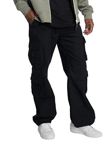 Brandit Pure Vintage Homme Cargo Pantalon - Noir, 5XL