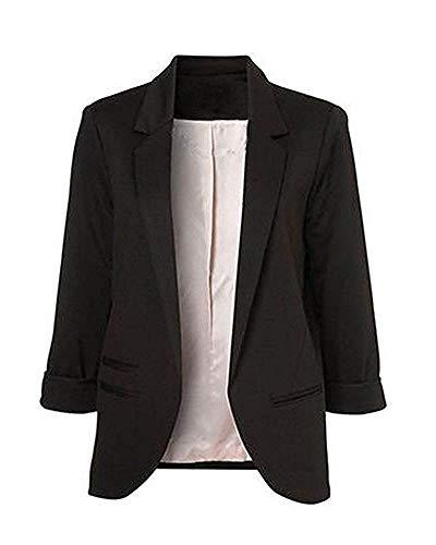 Minetom Femme Élégant Blazer à Manches Longues Slim Fit OL Veste De Costume Basique Ajusté...