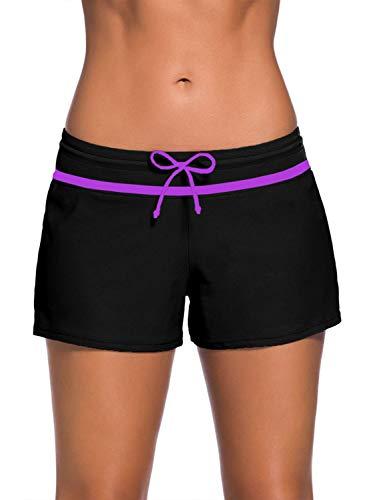 Yidarton Shorts de Bain Femme Bas de Maillot avec Cordon Short de Sport Eté Multiusage S-3XL