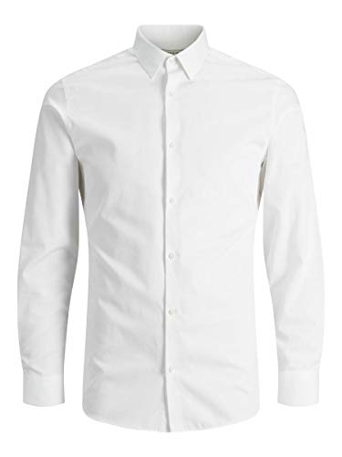 Jack & Jones Jprnon Iron Shirt L/s Noos Chemise Business, Blanc (White Fit:Slim Fit), Large...