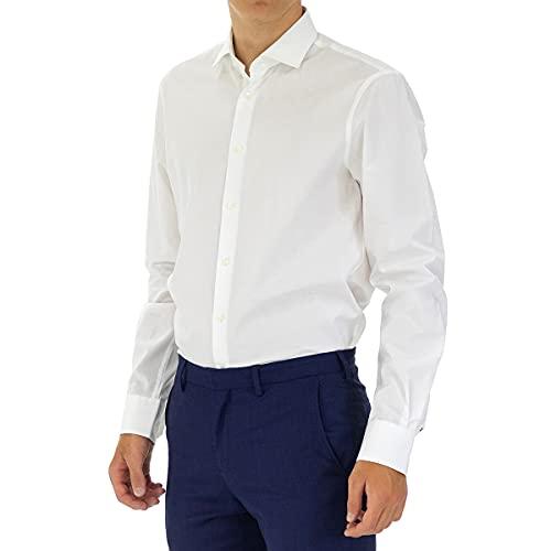 Tommy Hilfiger Core Stretch Poplin Slim Shirt Chemise Business, Blanc (100), 39 Homme prix et achat
