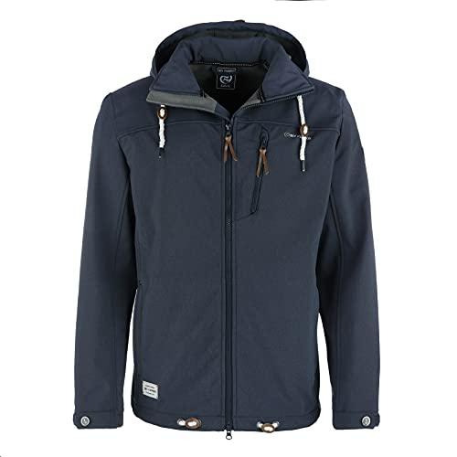 Dry Fashion Veste softshell Heiligenhafen - Pour homme XL Bleu foncé chiné