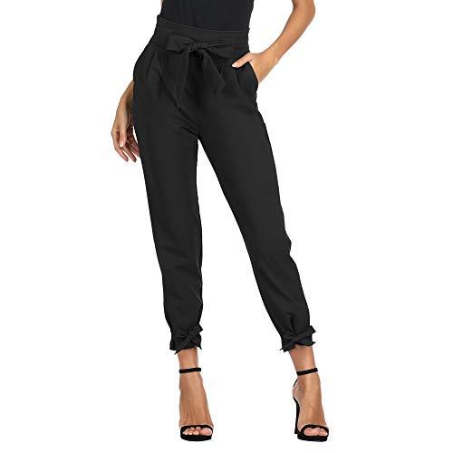 GRACE KARIN Pantalon Femme Casual Trouser élastique Crayon été avec Poches Taille Haute...