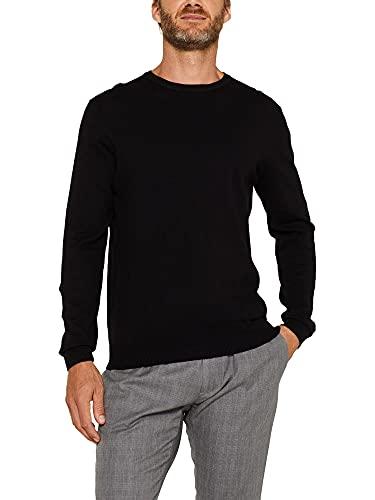 Esprit Classic Rundhals Sweater, Noir, XL Homme