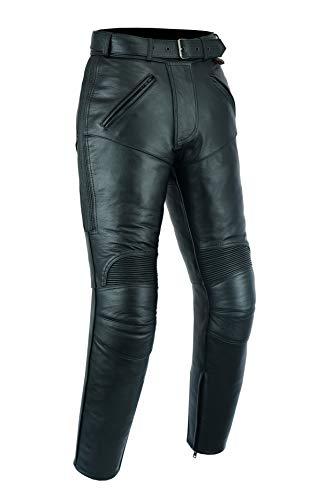Texpeed - Pantalon de moto - pour femme - avec renforts amovibles CE - cuir de vachette - EU40 - Longueur 30'