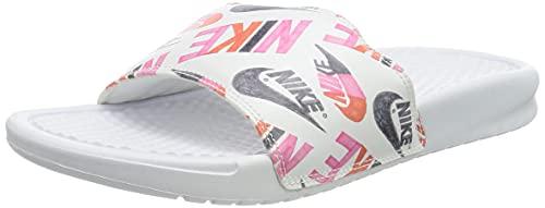 Nike WMNS Benassi JDI Print, Chaussure de Course Femme, Orange Équipe Rose Blanc/Noir-Lotus,...