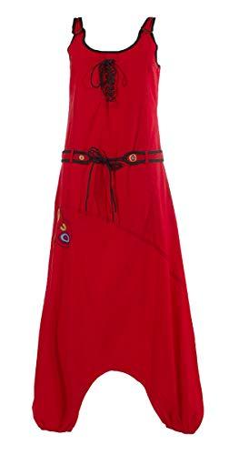 Coline - Combi Sarouel Ethnique - Couleur : Rouge - Taille : S/M