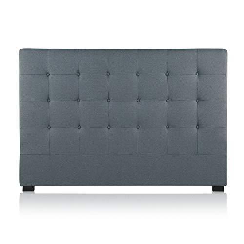 Intense Déco - Tête de lit capitonnée Premium Tissu 160cm Gris